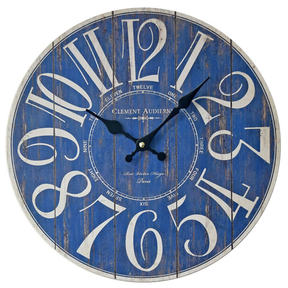 Blue Digital Wall Clock Fashional Decoration For Living Room Bedroom  Wall Decor Saat Home Watch Wall Gift