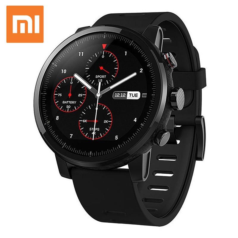 D'origine Xiaomi Montre Smart Watch avec Musique Jouer GPS NOUVEAU Xiaomi Huami Amazfit Stratos Rythme 2 Montre Smart Watch PPG Moniteur de Fréquence Cardiaque Montre
