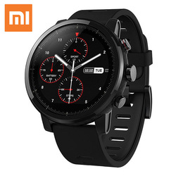 Original Xiaomi Smart Watch with Music Play GPS NEW Xiaomi Huami Amazfit Stratos Pace 2 Smart Watch PPG Heart Rate Monitor Watch