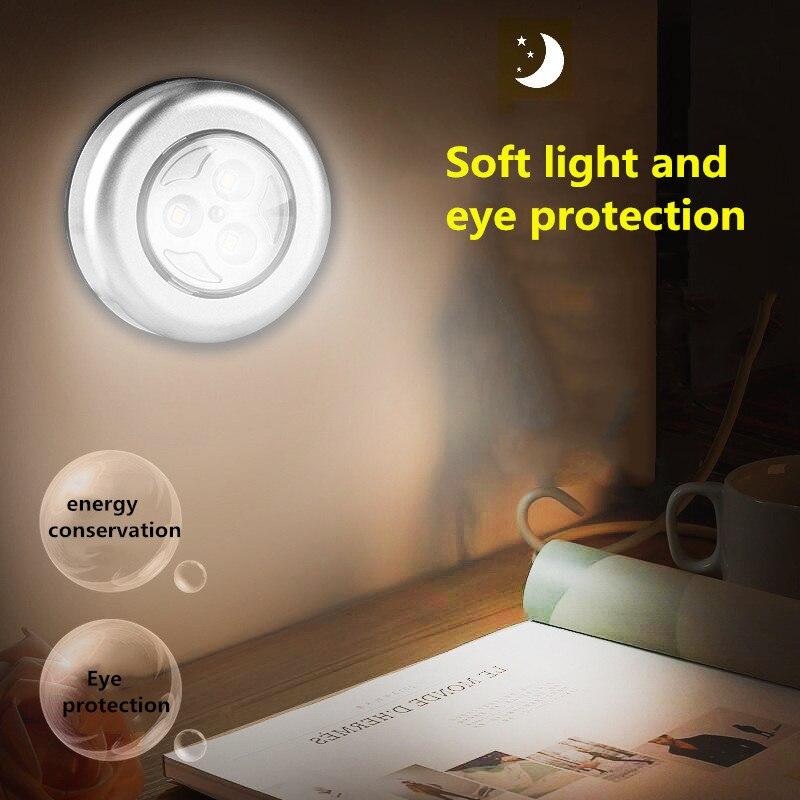 Lámpara LED táctil de atenuación sin polary, para dormitorio de estudiantes, armario ligero, iluminación nocturna, 2019|Luces de noche LED| - AliExpress