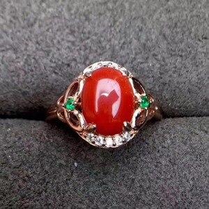 Image 4 - KJJEAXCMY Edlen schmuck 925 Sterling Silber mit rote koralle weibliche ring und silber zertifikat können ausgewählt werden