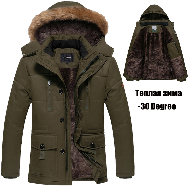 ФОТО 4XL 5XL Winter Jacket Men Brand-Clothing Thickening Long Warm Parka Winter Coats Fleece/Velvet Windbreaker Jackets Men DJ02602