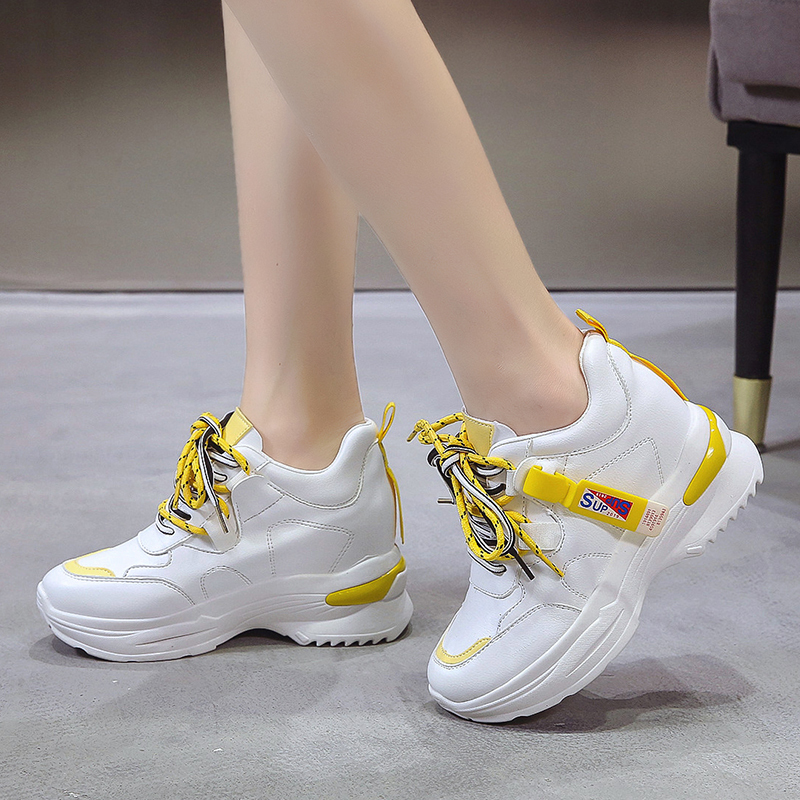 Rubber Wedges Shoes for Women Casual Shoes Comfortable Platform Sneakers Women Vulcanized Shoes Spring and Autumn Women Shoes 38
