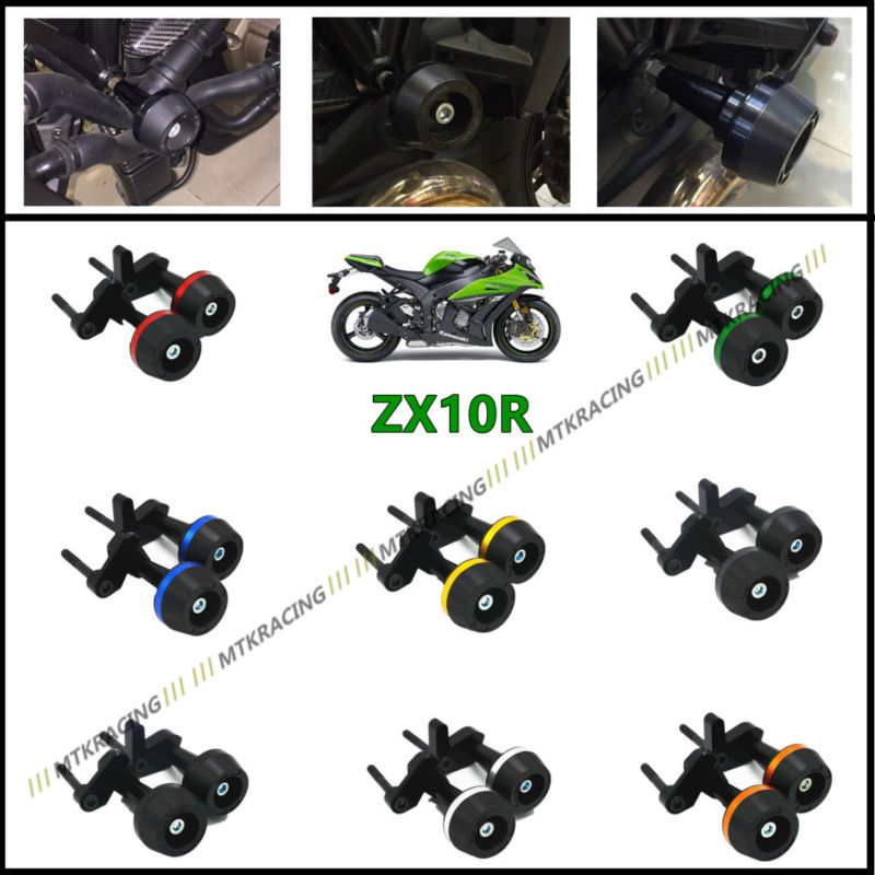 Free delivery New CNC Aluminum Motorcycle Falling Protection Left and Right Frame Sliders Protector For KAWASAKI ZX10R 2008-2012 dipal r patel paridhi bhargava and kamal singh rathore ethosomes a phyto drug delivery system