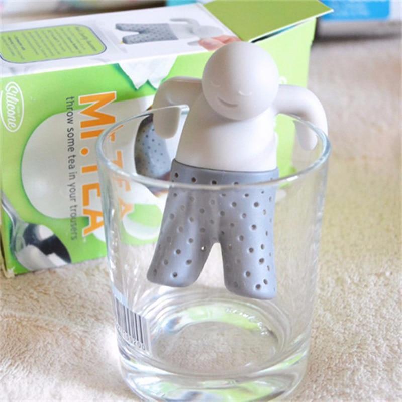 10 pcs/lot Tea tool Interesting Life partner cute Mr Teapot Tea Infuser/Tea Strainer/Coffee & Tea Sets/silicone