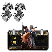 2 pcs Jogo para Celular Botão de Fogo Objetivo Chave Smart phone Jogo Gatilho L1 R1 Atirador Smartphone Controlador Joysticks Para PUBG r11