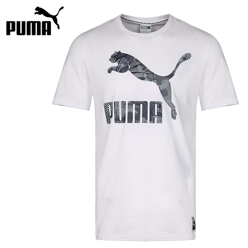 Original New Arrival 2018 PUMA Archive Logo Tee Men's T-shirts short sleeve Sportswear patchwork short sleeve henley tee