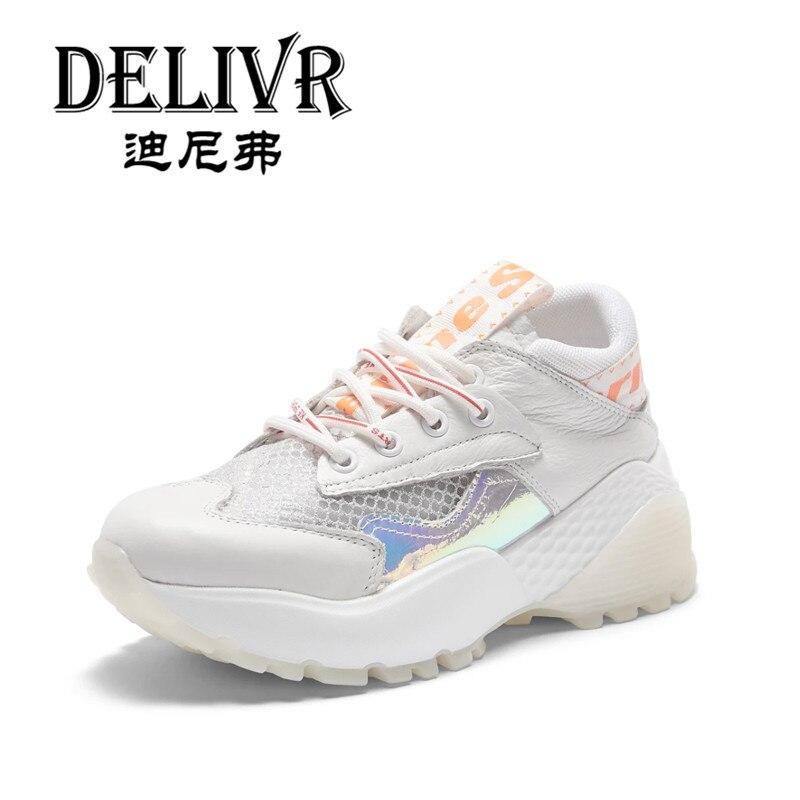 Vrouw Plate White Vulcanisées forme 2019 Femmes Dames Tenis Chaussures Delivr Schoenen Papa Épaisse Chunky De Semelle Harajuku Feminino 7qgxUw4a