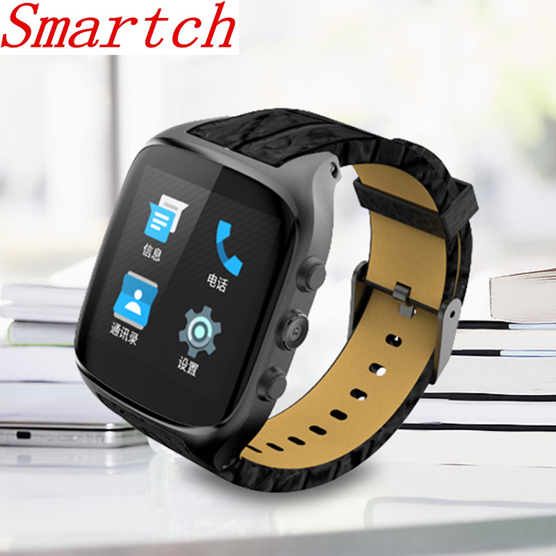 Smartch X01S Android Smartwatch Telefon Bluetooth Smart Uhr 1,3 ghz Dual Core IP67 GPS Uhr <font><b>Cam</b></font> 8 gb ROM Herz rate 3g WiFi Uhr image