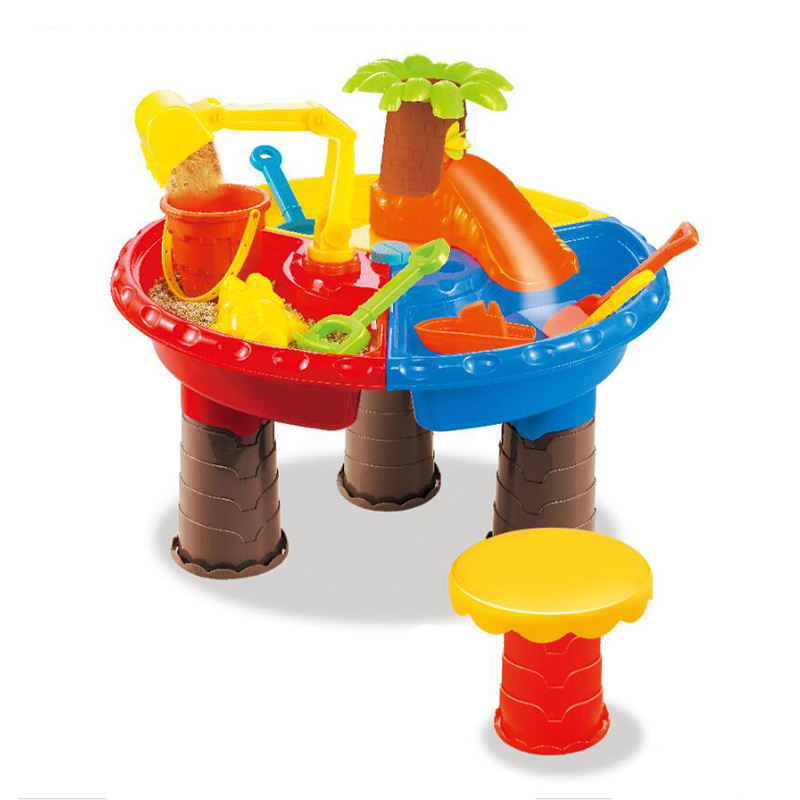 Baby Water And Sand Dredging Tools Childrens Beach Table Sand Pool Set Sand Water Play Toys Suit Color Random