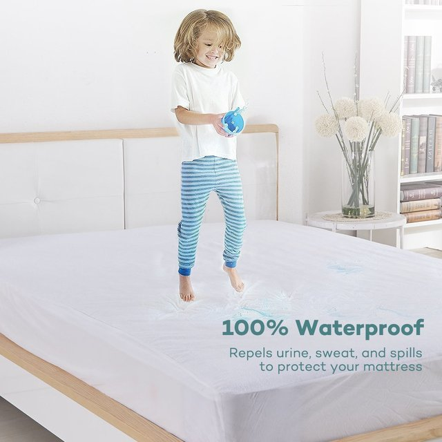 Turetrip 140x200cm Terry Waterproof Mattress Cover Bed Bugs Dust
