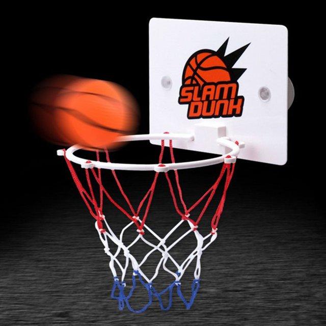 b02b93a5 Портативный забавные щит с кольцом для мини-баскетбола игрушечные лошадки  Комплект Домашние Баскетбол вентиляторы спортивные