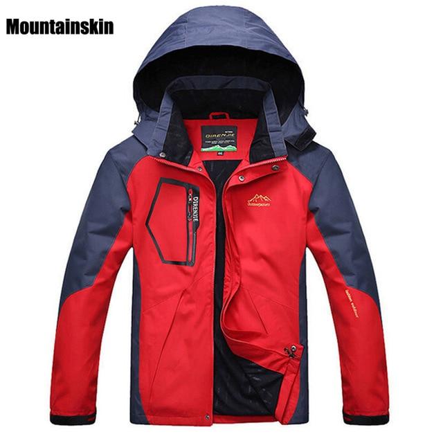 c269490fb5f80 Mountainskin 5XL Men s Spring Fleece Softshell Jackets Outdoor Sports  Waterproof Coats Hiking Camping Trekking Male Jacket RM019