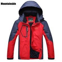 Mountainskin 5XL herren Winter Fleece Softshell Jacken Outdoor-Sport Wasserdichte Mäntel Wandern Camping Trekking Männliche Jacke RM019