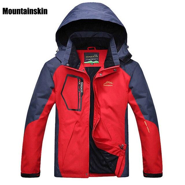 Mountainskin 5XL Primavera Fleece Softshell dos homens Jaquetas Casacos de  Esportes Ao Ar Livre À Prova 1e26c50eb5d15
