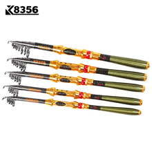 K8356 99% Carbon 1.8M 2.1M 2.4M 2.7M 3.0M Portable Telescopic Fishing Rod Spinning Fish Hand Fishing Tackle Sea Rod Ocean Rod