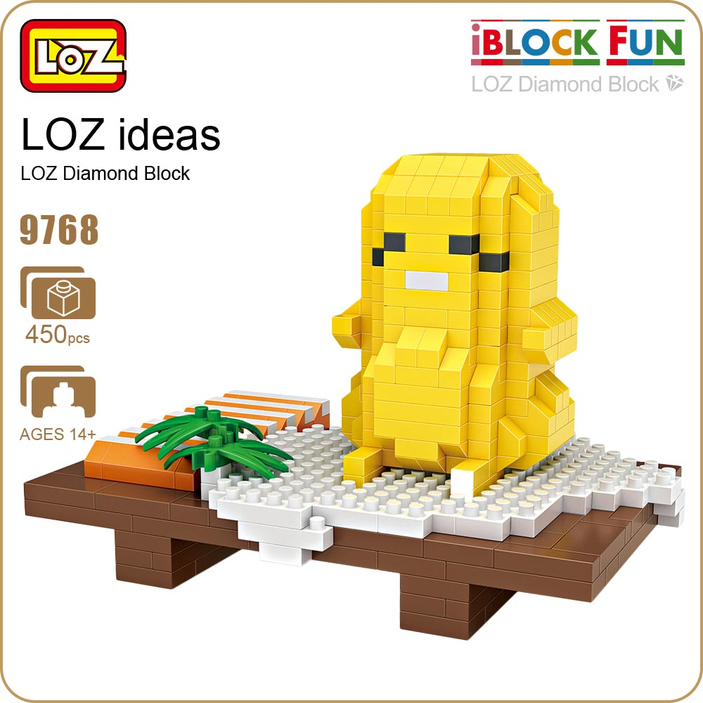 LOZ Diamond Blocks Sushi Assembly Model Mini Bricks Building Blocks Set Egg Action Figure Pixels Plastic Toys For Children 9768  new gundam action figure model diamond building blocks loz 15cm 6 pcs set toys for children 9