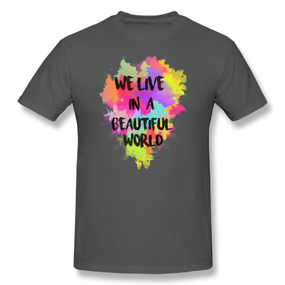 a0436f68 Coldplay T Shirt Clothing We Live in a Beautiful World Watercolor Funny T  Shirts For Men T-Shirt Plus Size 6XL Tee Shirt 2018