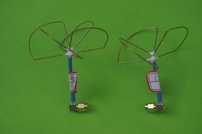 2.4G 3 4 Cuchillas SMA Plug Clover Leaf Antena y Skew Planar, Audio Video FPV TX RX