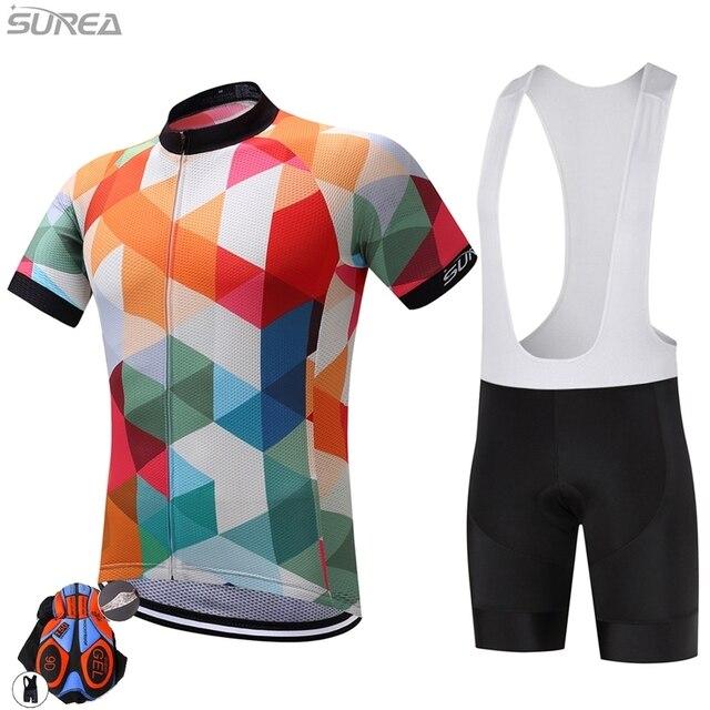 2017 Surea Cycling Jersey Pro Team Manica Corta Vestiti Della Bicicletta  Della Bici Abbigliamento Sportivo Abbigliamento 6a82de416