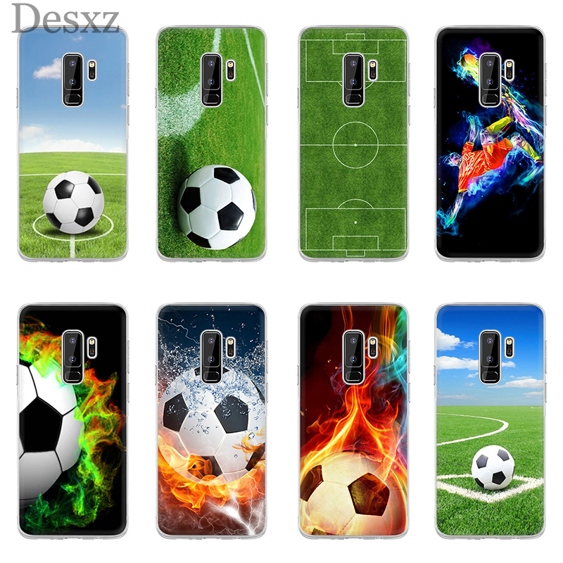 Fitted Cases Collection Here Phone Case Cover Football Soccer Ball On Water Burning Fire For Samsung Galaxy J3 J5 J7 2016 2017 A5 A6 A8 Plus 2018 Note 8 9 Phone Bags & Cases