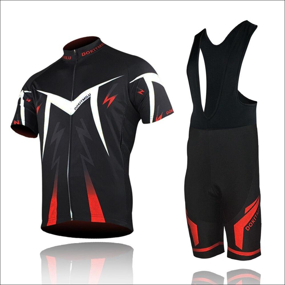 Prix pour Dokitmilu Ciclismo Vêtements de Cyclisme/VTT Vélo De Route Tour Vêtements/Vélo De Course Équitation Vêtements uniforme Mans Jersey et Pantalon ensembles