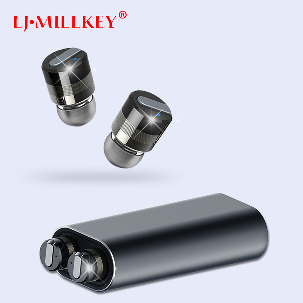 Newest Twins True Wireless Earbuds Mini Bluetooth In-Ear Stereo TWS Wireless Earphones With Charging Case LJ-MILLKEY YZ151