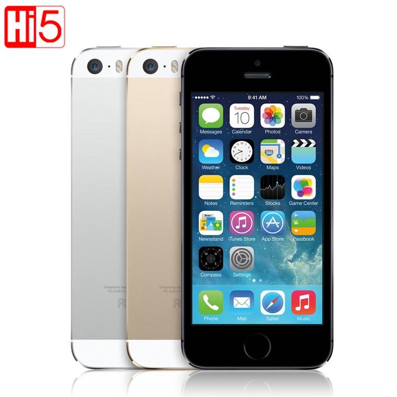 Apple iphone 5s разблокирована смартфон IOS Touch ID 4,0 ''дисплей 16 ГБ/ГБ 32 Гб ГБ/64 ГБ Встроенная память Wi Fi gps 8MP отпечатков пальцев Бесплатная доставка