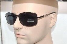 Hollow Temple polarized men sunglasses Black Large rectangle frame polaroid polarised sport vacation men sun glasses tac uv400