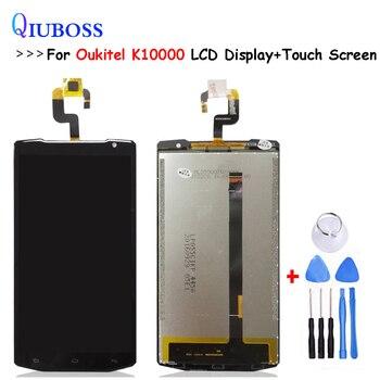 Dla Oukitel K10000 wyświetlacz LCD ekran dotykowy panel digitizera matrycy szklanej ekran dotykowy wymiana części nowy oryginał z narzędzia