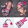 Крючком Детские Сердце Hat и Брюки Установить Крючком Новорожденных Близнецов Clothing Set Baby Coming Home Наряды с Любовью Сердце MZS-16031