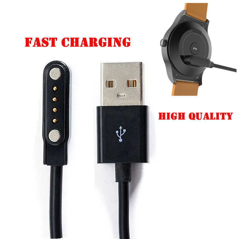 4 Pins Magnetic Suction USB Charging Cable for Bluetooth Smartwatches Compatible K88H K89 KW18 KW88 GT88 G3 GT68 Watch USB Cable