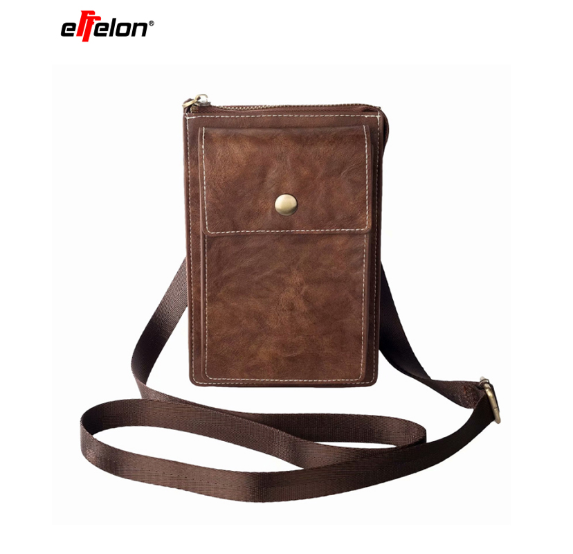 New Universal PU Leather Cell Phone Bag Shoulder Pocket Wallet Pouch Case Neck Strap For iPhone/Samsung/Sony/LG/HTC/Nokia/Asus