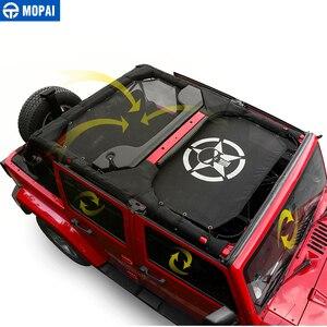 Image 3 - Mopai 2/4 ドア車トップサンシェードカバー屋根の抗uv太陽保護メッシュネットジープラングラーjk 2007 2017 車アクセサリースタイリング