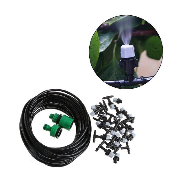 10m Garden Plants Irrigation Patio Misting Hose Mister Nozzles Cooling System