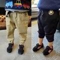 2 - 9 лет ребенок дети 80 см - 130 см ребенок весной свободного покроя брюки мальчик хлопок шаровары хип-хоп сталкивателем байкер добычу штаны