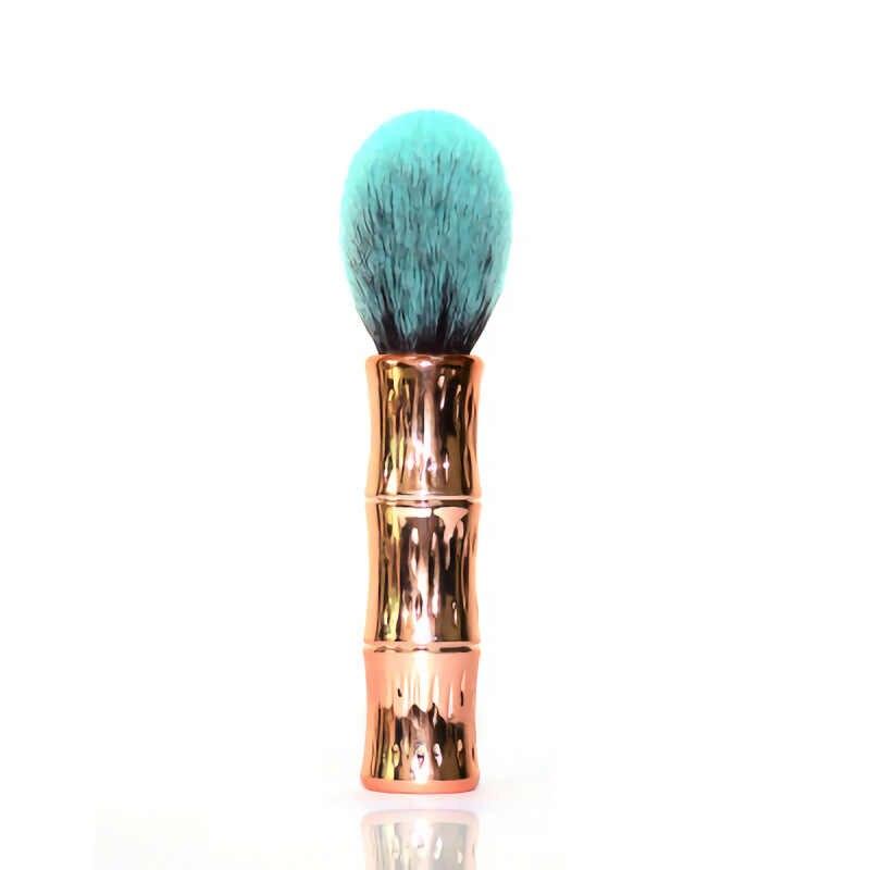 Wysokiej jakości pędzel do podkładu płaski krem pędzle do makijażu bambusowy festiwal uchwyt Super miękkie profesjonalny kosmetyk pędzel do makijażu