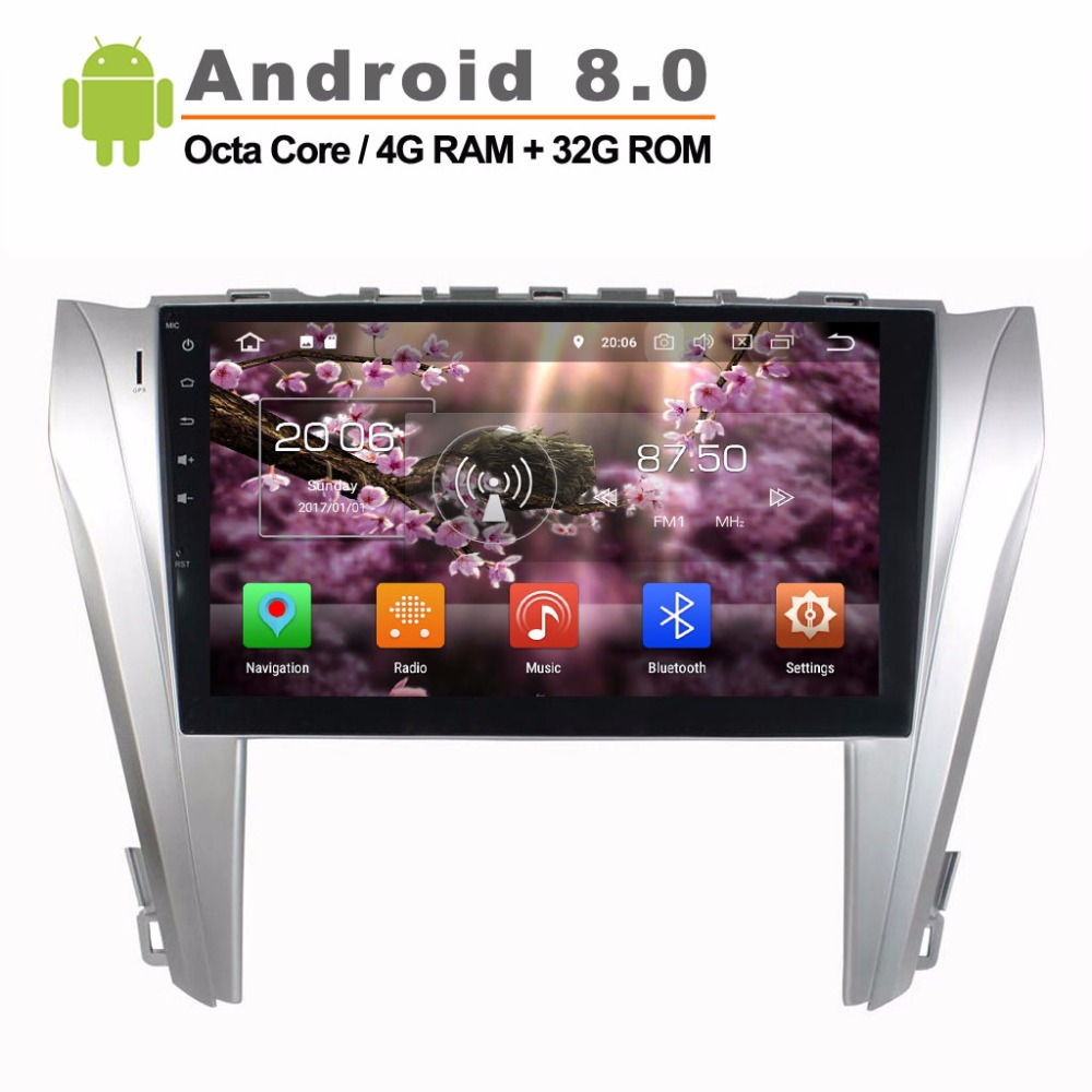 10.1 Android 8.0 Car Radio Stereo for TOYOTA CAMRY 2014 2015 GPS navi 8 Core Car Video player with wifi mirror link