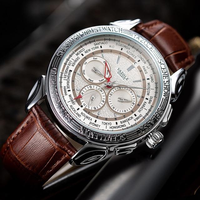 Men Watches 2019 YAZOLE Top Brand Luxury Fashion Sports Watches Men Vintage engraving Watches Quartz Hodinky Relogio Masculino 5