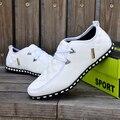 El otoño Y el Invierno de Moda de Los Nuevos Hombres Zapatos Casuales Zapatos Planos de Los Hombres zapatos de Los Hombres Cordón de Algodón Acolchado Pisos PU Plus Size Envío Gratis