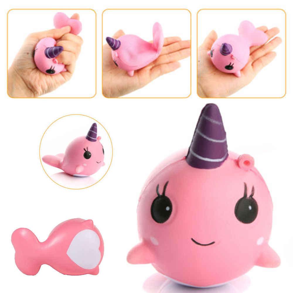 Dropshipping 1 pcs Espremer Mole Mini Bonito Unicórnio Kawaii Anti-stress Rebote Lento Subindo Brinquedo Macio da Boneca de Presente