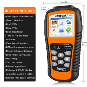 Image 3 - Nexpeak nx501 obd2 scanner automotivo motor do carro ferramenta de diagnóstico completa obd 2 protocolos análise dados suporte impressão/atualização