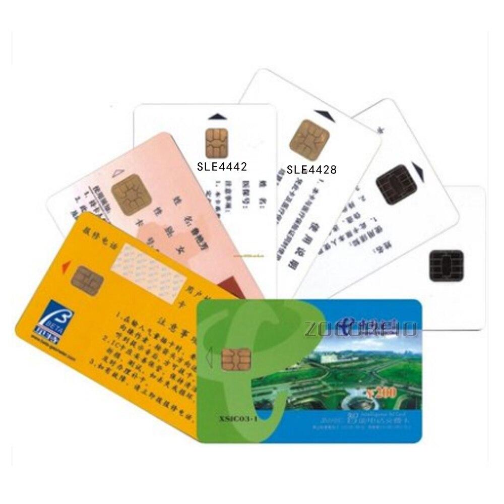 100 pièces impression SLE-4442 puces contact IC carte photo personnalisée hôtel porte carte