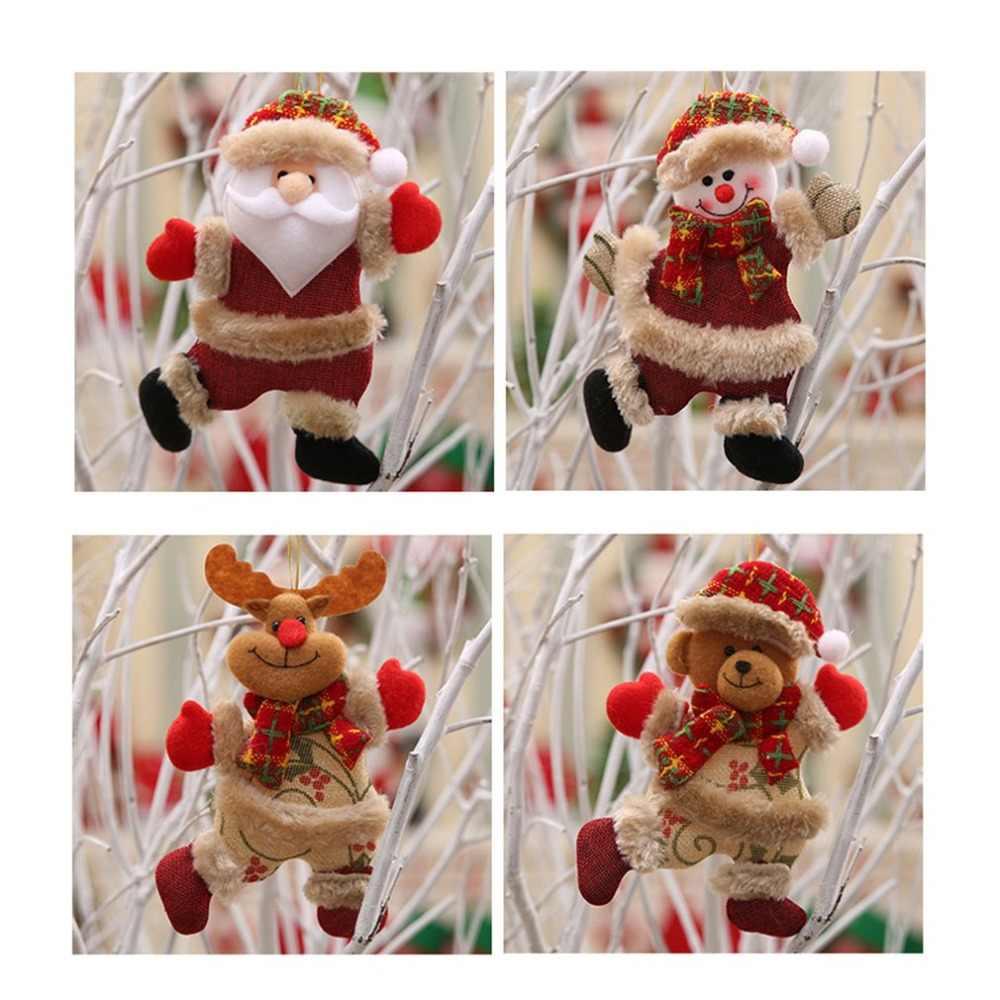 Kerstboom Accessoires Leuke Realistische Kerst Pop Kerstversiering Dansen Doek Avond Opknoping Geschenken