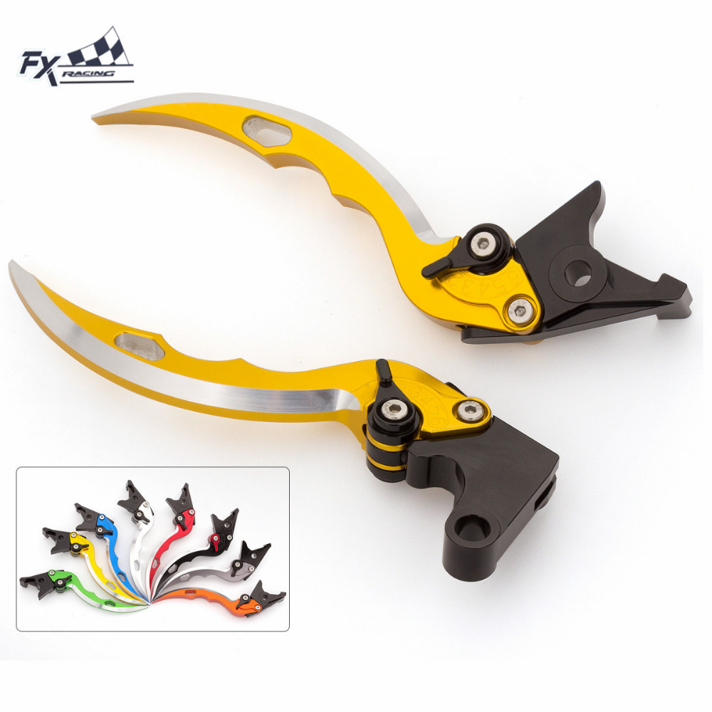 CNC Knife Blade Motorcycle Brake Clutch Levers Adjustable Aluminum Pair For <font><b>Honda</b></font> <font><b>HORNET</b></font> CB599 CB600 CBR <font><b>600</b></font> F4I F3 1998 - <font><b>2006</b></font> image