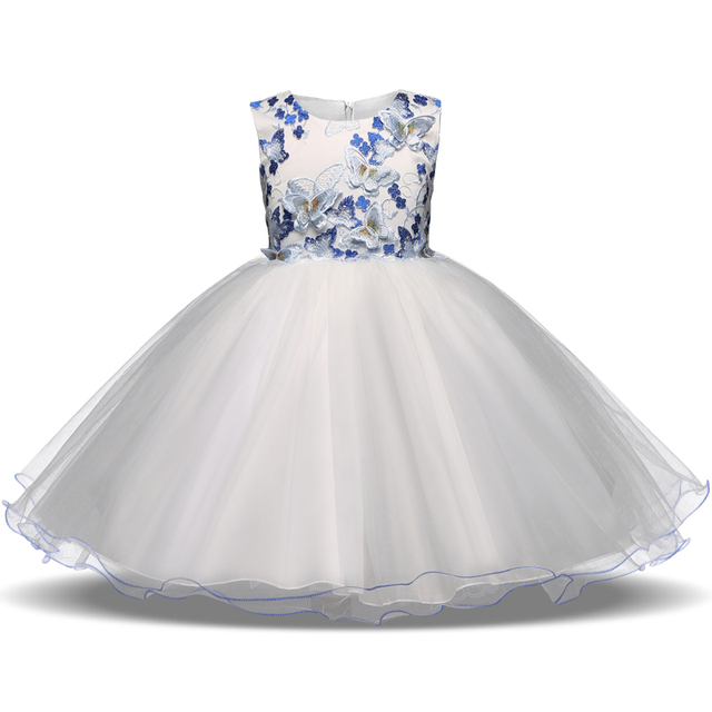 New Flower Girls Dresses For Wedding Formal Girl Birthday Party Outfits Graduation Dress Princess Ball