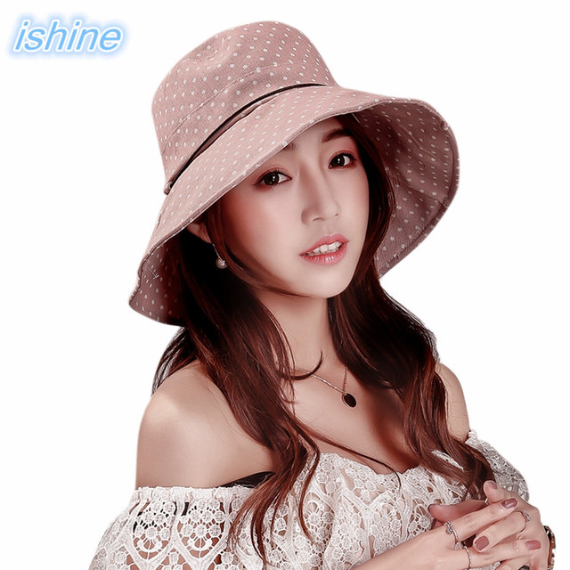 5aa1ae25 2018 Women Sun Breathable Hat Wide Brim Summer Hats Floppy Foldable Fashion  Casual Beach Vacation Sombrero
