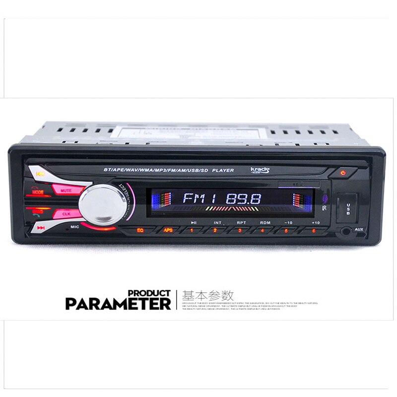 1Din autoradio Auto Audio stéréo 12 V prise en Charge FM SD AUX USB Interface In-Dash 1 Din voiture lecteur MP3 récepteur dispositif téléphone Charge