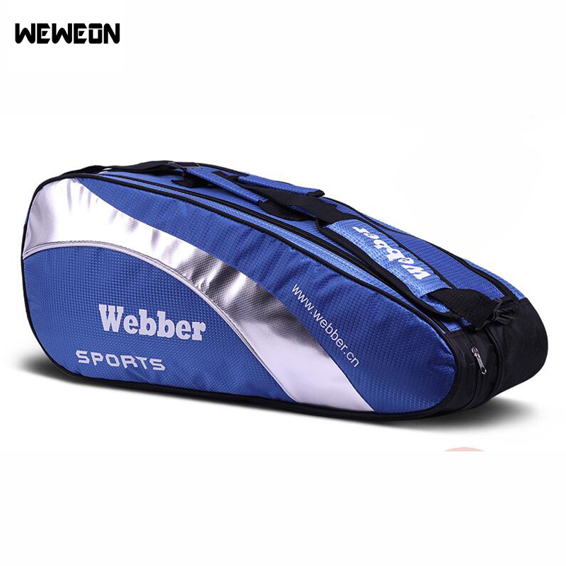 4Pcs Large Badminton Bags Sports Racket Handbag Waterproof Tennis Backpack Gym Stylish Sporting Pack Teenager Exercise Bolsa