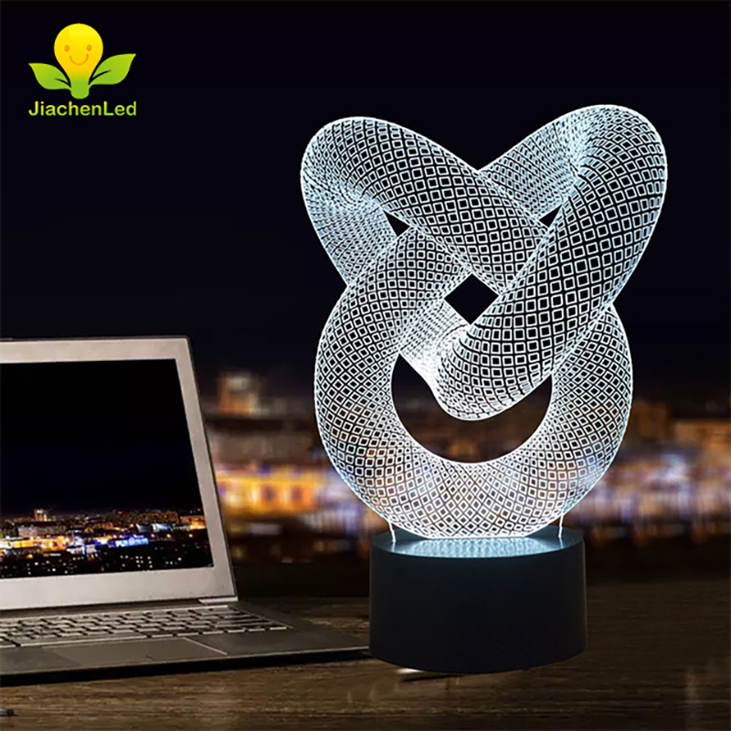 US $12 68 |Home Craft Touch Switch Control 3d Acrylic Lamp Colorful  Lamparas 3D LED Lamp 5V-in LED Night Lights from Lights & Lighting on